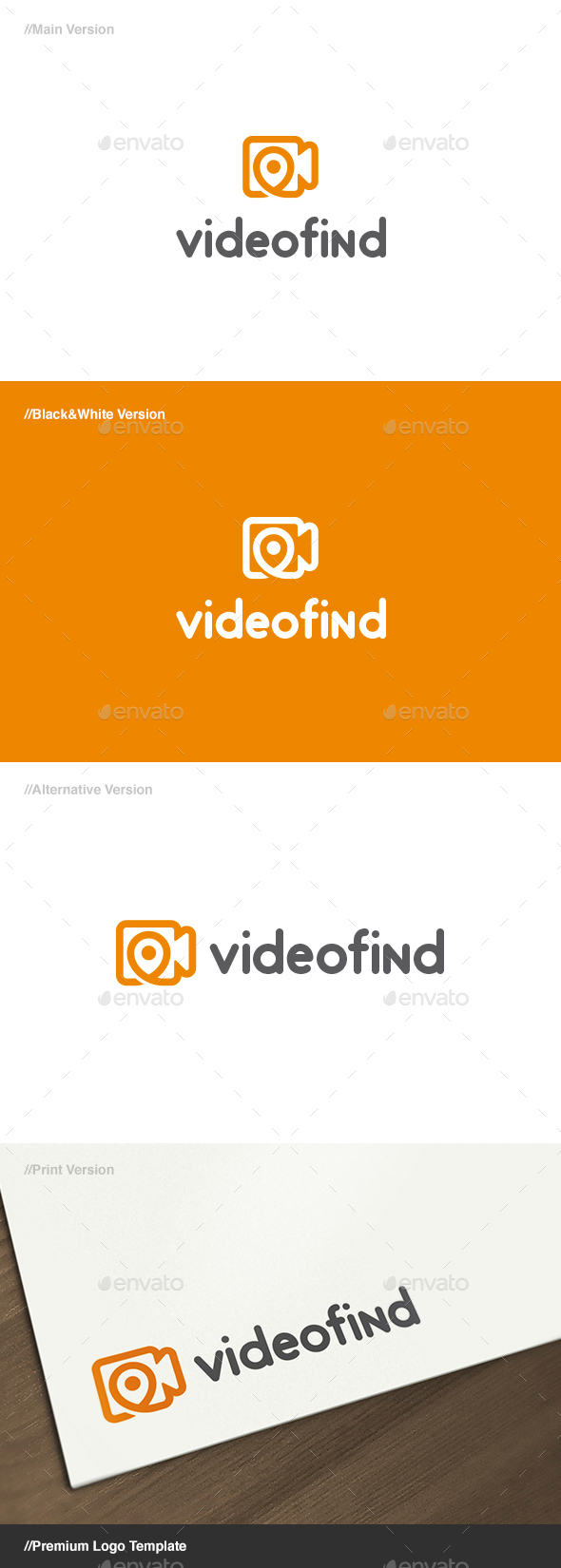 Video Find Logo - Objects Logo Templates