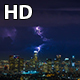 Downtown Los Angeles Thunderstorm Night Medium - VideoHive Item for Sale