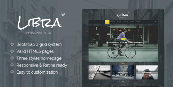 Libra - Personal Blog WordPress Theme