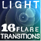 16 Light Flare Transitions  - VideoHive Item for Sale
