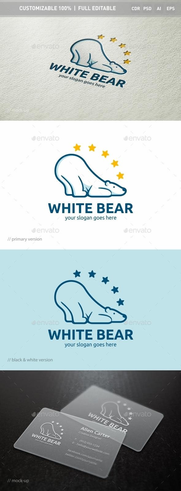 White Bear Logo Template - Objects Logo Templates