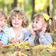 Children In Autumn Park - VideoHive Item for Sale