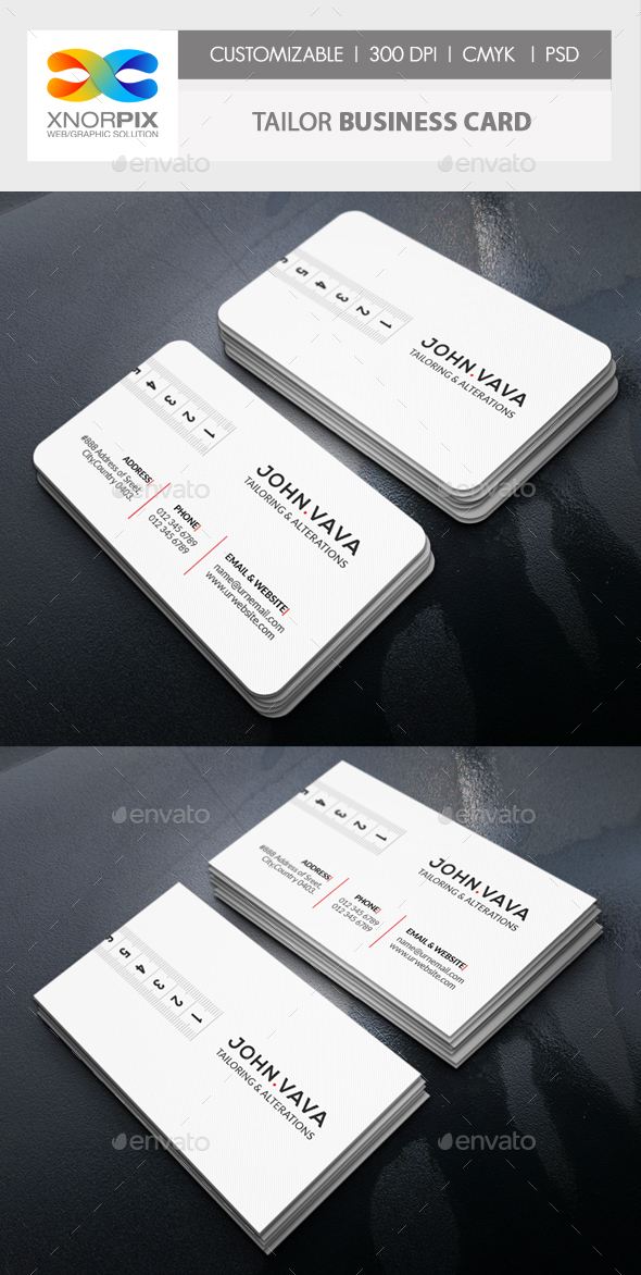 Tailor Business Card - Corporate Business Cards