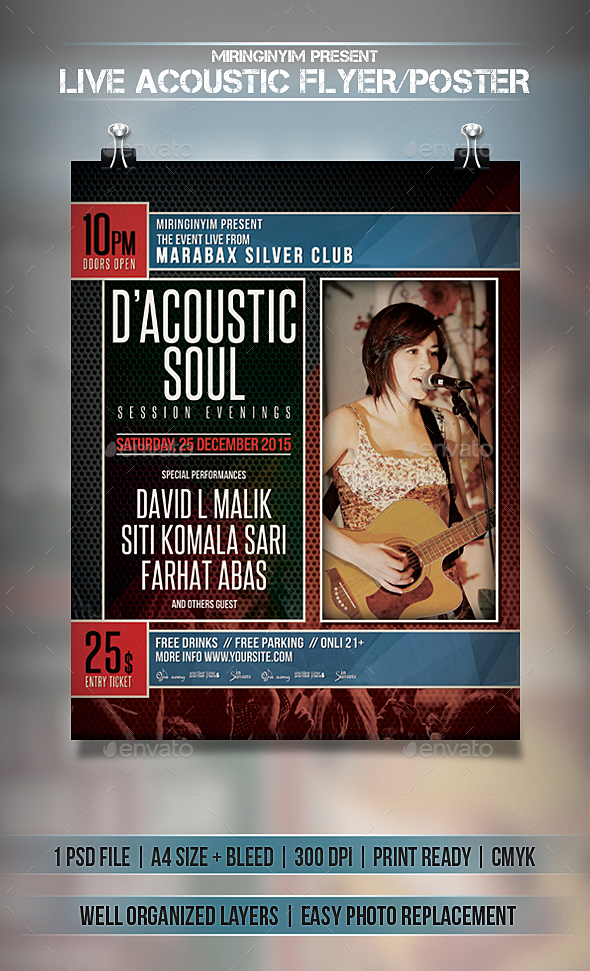 Live Acoustic Flyer / Poster  - Events Flyers