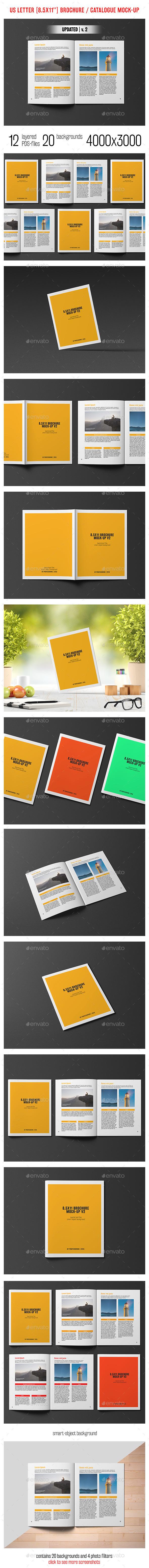 8.5x11'' Brochure / Catalogue Mockup - Brochures Print