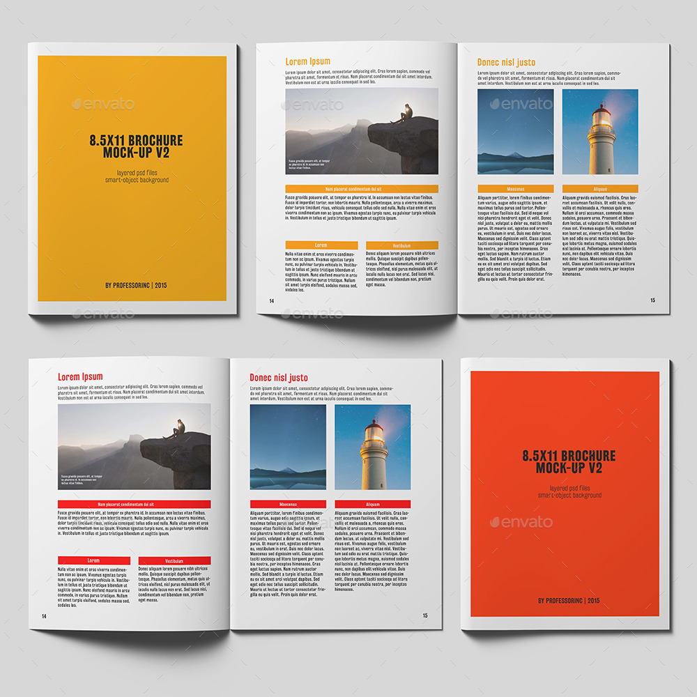 X Brochure Catalogue Mockup By Professorinc GraphicRiver - 85 x 11 brochure template