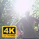 Male Runner With Hands On Waist Standing In Forest - VideoHive Item for Sale