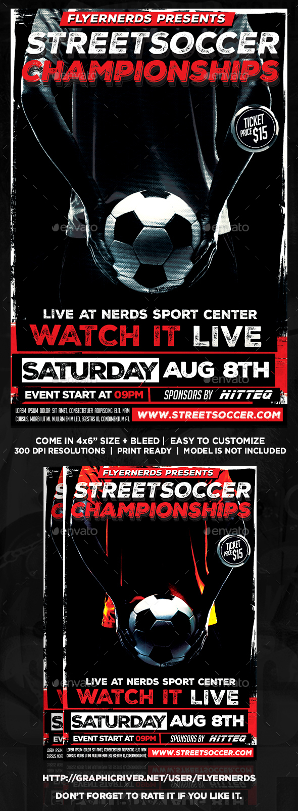StreetSoccer Championships Sports Flyer - Sports Events