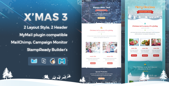 X'mas 3 | Responsive Email Template