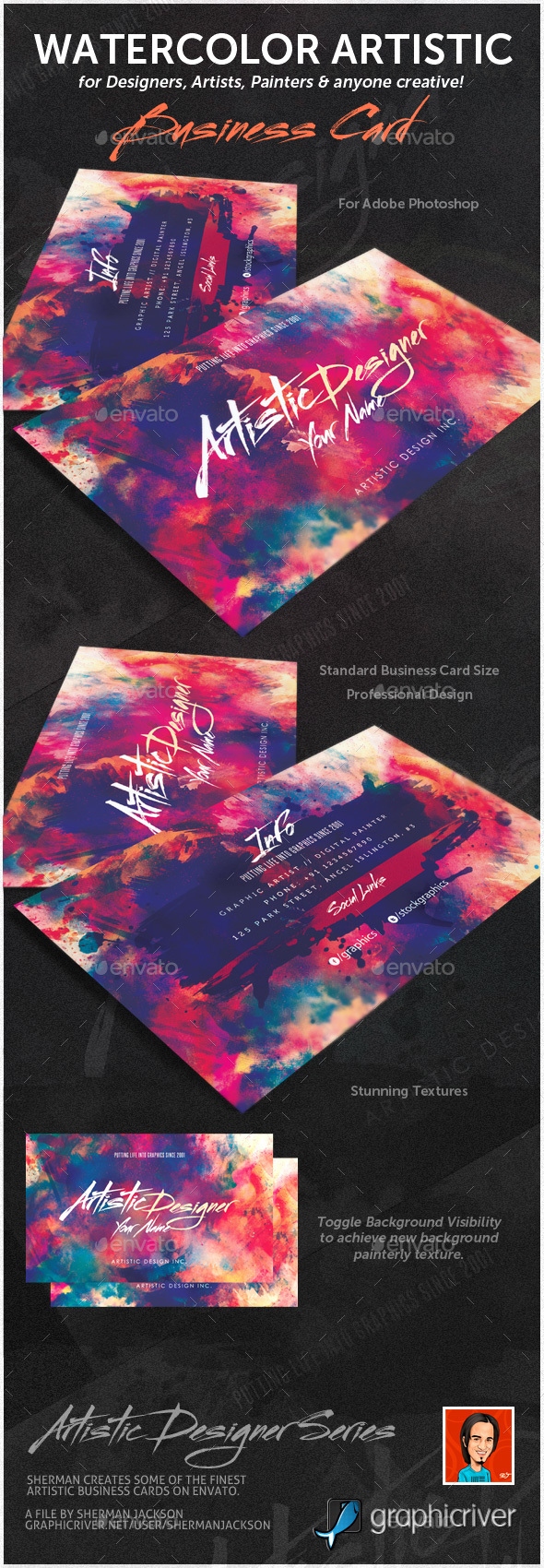 artists business cards