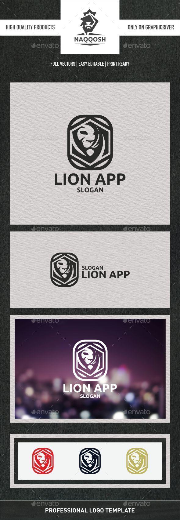 Lion App - Symbols Logo Templates