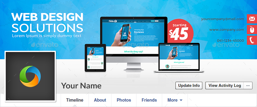 Web Design Facebook Covers - 3 Designs