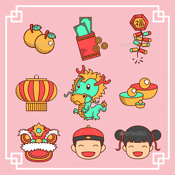 Chinese New Year Icons - New Year Seasons/Holidays