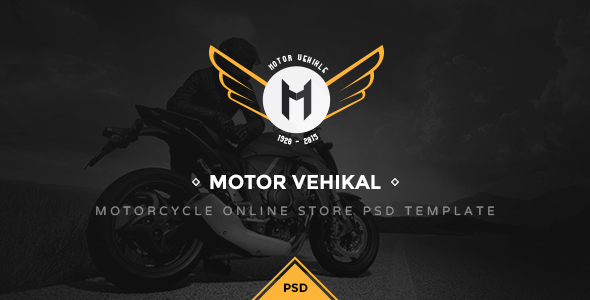 Motor Vehikal - Motorcycle Online Store PSD - Retail PSD Templates