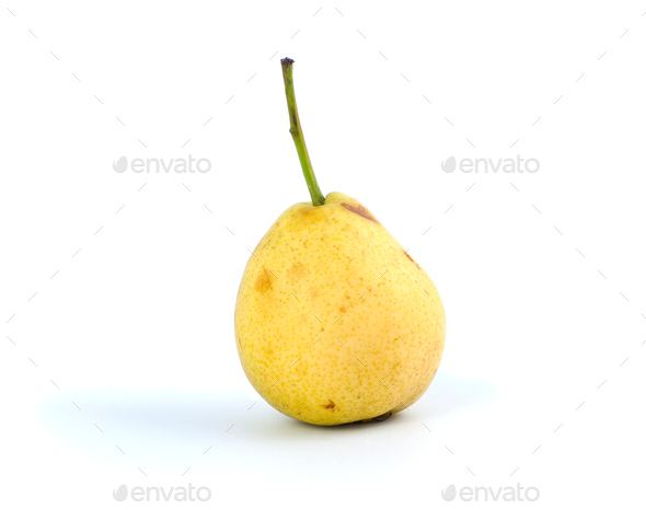 Pear, which began to deteriorate. - Stock Photo - Images