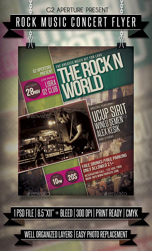 Rock Music Concert Flyer - Events Flyers