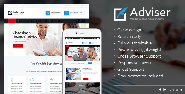 Adviser | Finance & Accounting HTML Theme