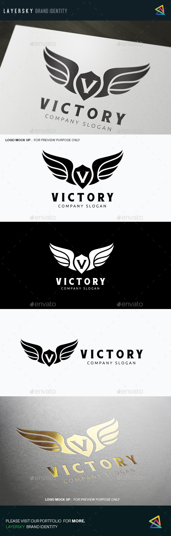 Victory - Crests Logo Templates
