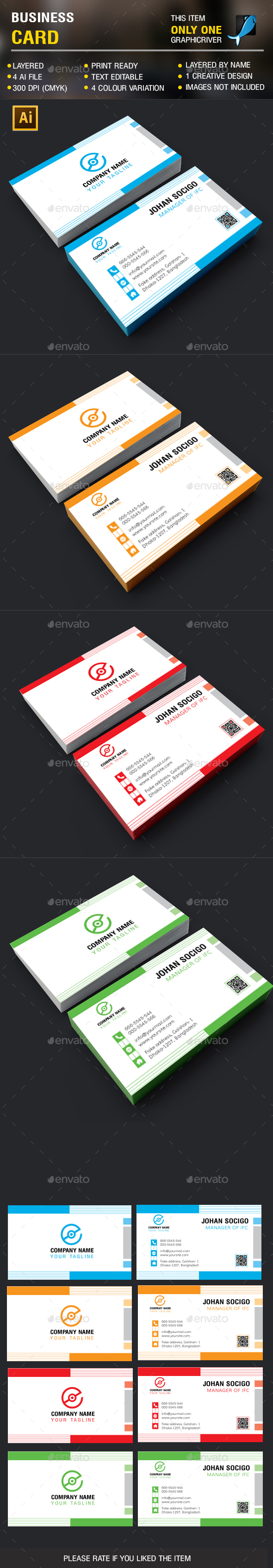 Clean Busienss Card - Corporate Business Cards