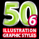 50 Illustrator Graphic Styles Vol.6 - GraphicRiver Item for Sale
