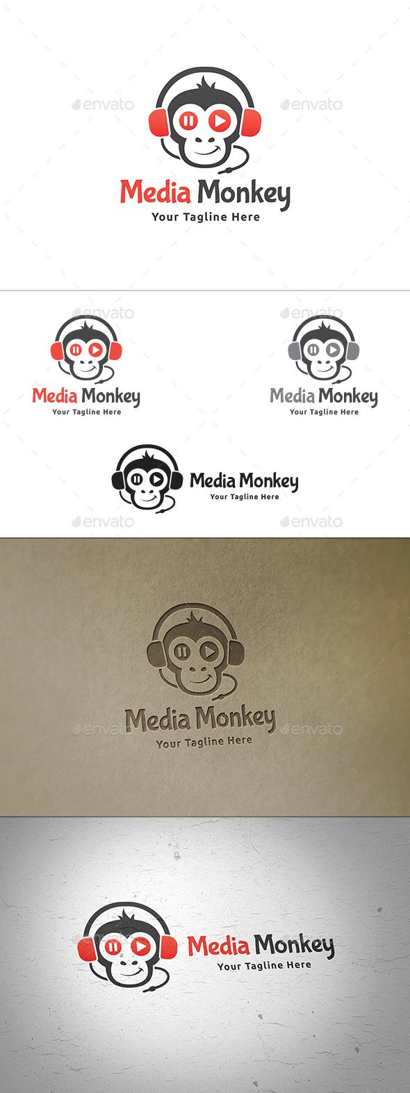 Media Monkey Logo - Animals Logo Templates