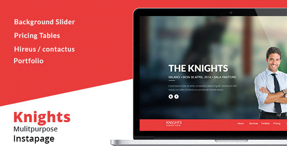 Knights Multipurpose Instapage Template - Instapage Marketing