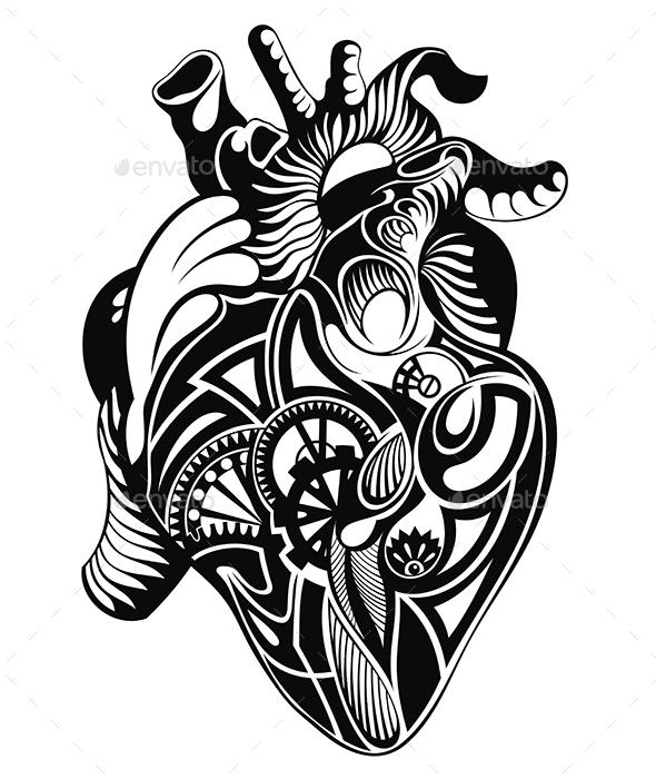 Heart Illustration  - Decorative Symbols Decorative