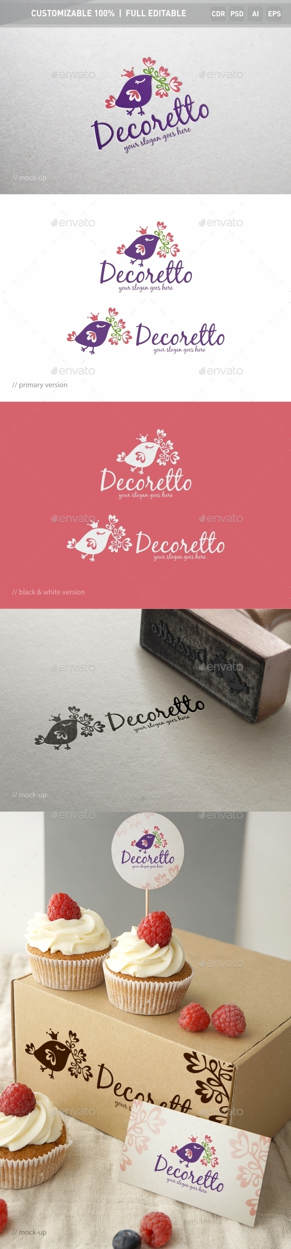 Decoratto Logo Template - Objects Logo Templates