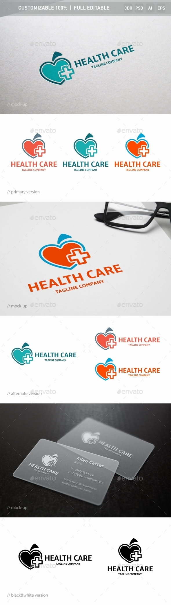 Health Care Logo Template - Objects Logo Templates