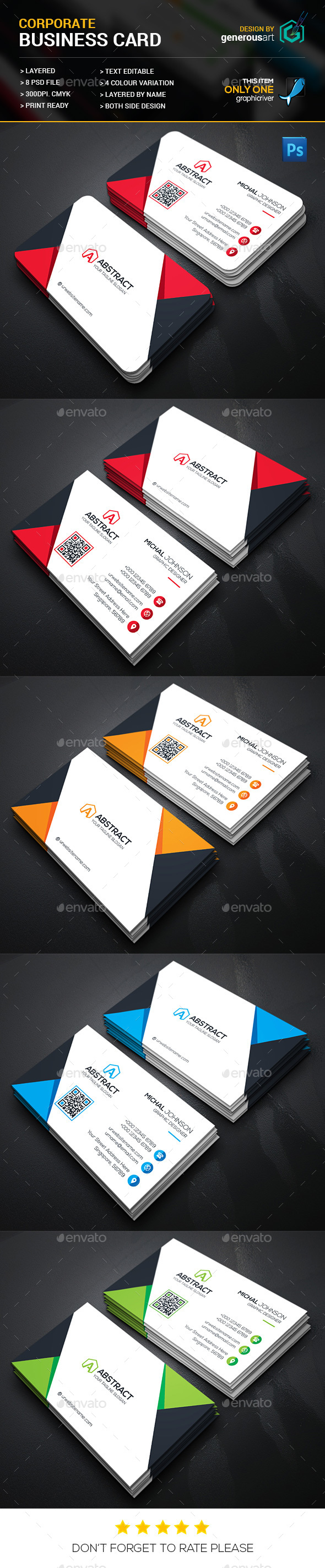 Abstract Business Card - Corporate Business Cards