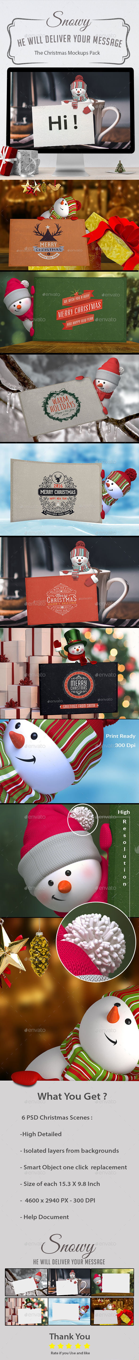 Snowy-The Christmas Mockups - Miscellaneous Print