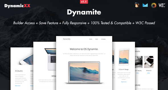 Dynamite - Responsive Email + Online Builder - Email Templates Marketing