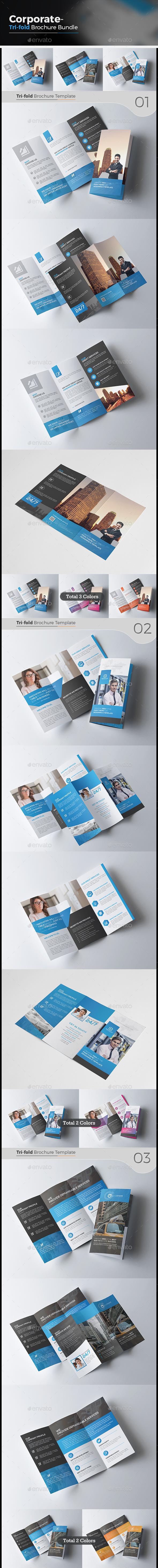 3 Tri Fold Brochure Bundle - Corporate Brochures