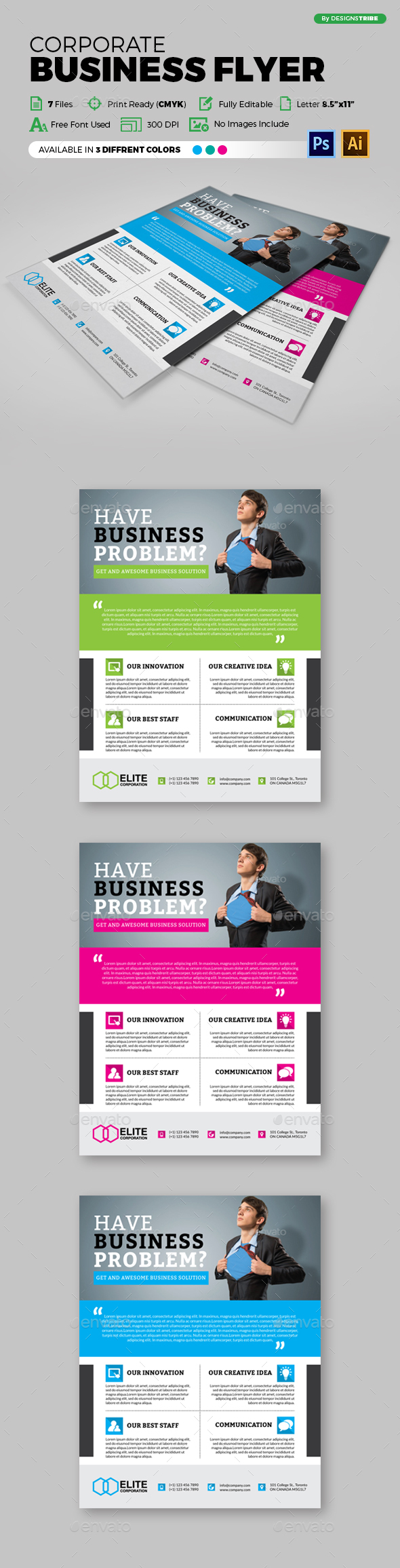 Multipurpose Business Flyer 97 - Corporate Flyers
