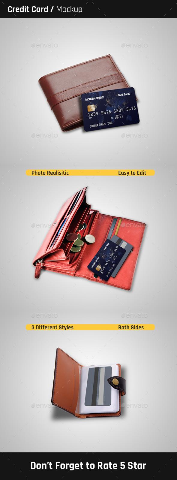 Credit Card Mock-Ups - Print Product Mock-Ups