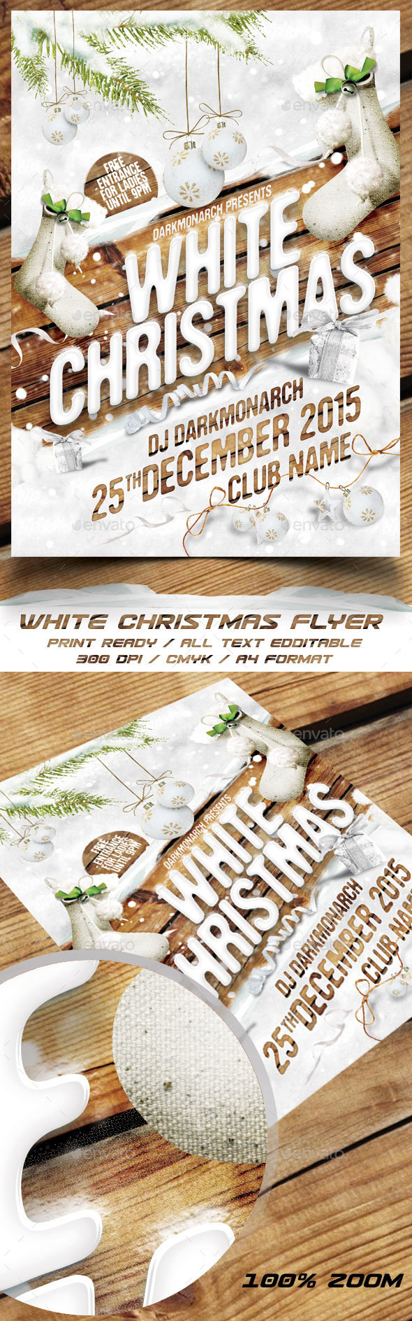 White Christmas Party Flyer - Holidays Events