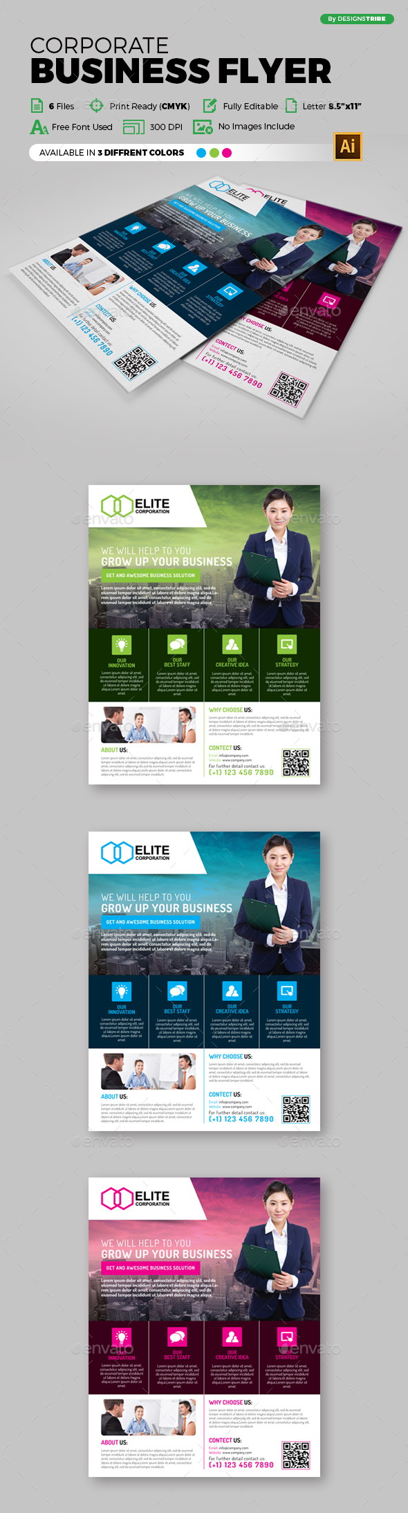 Multipurpose Business Flyer 98 - Corporate Flyers