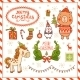 Set of New Year and Christmas Cartoon Elements - GraphicRiver Item for Sale
