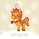 Horse Christmas Card Design - GraphicRiver Item for Sale
