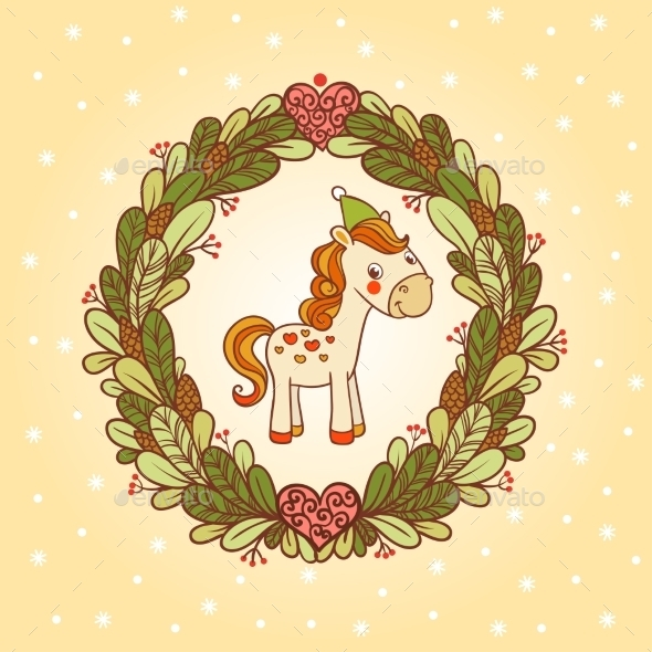 Horse Christmas Card Design - Christmas Seasons/Holidays