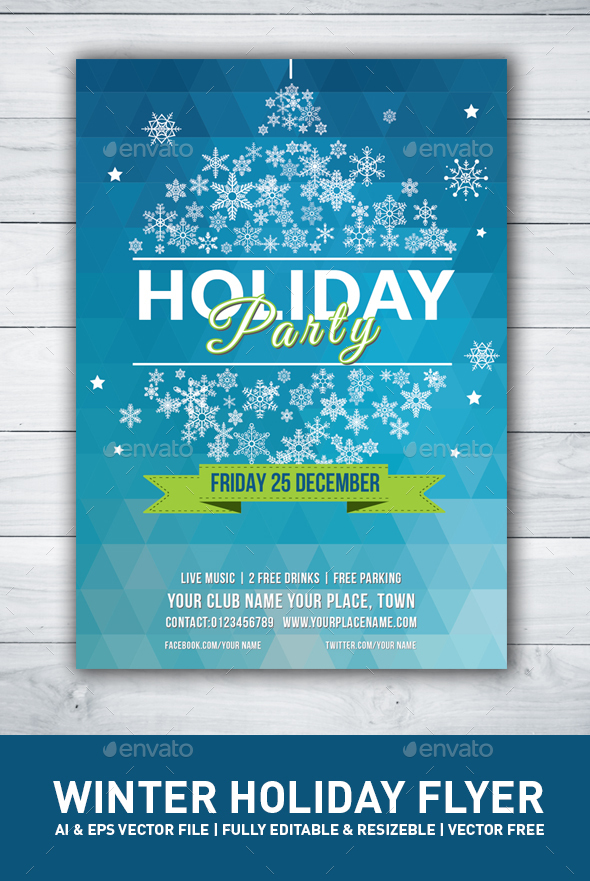 Christmas, Winter Party Flyer - Holidays Events