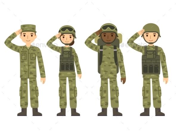 Cartoon Army People - People Characters