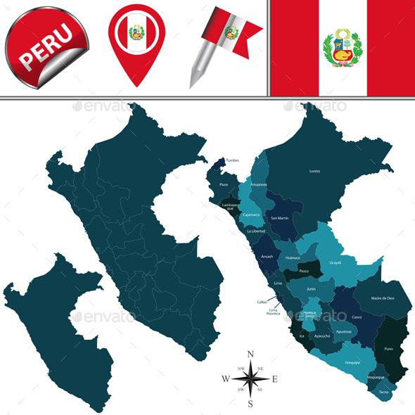 Map of Peru - Travel Conceptual