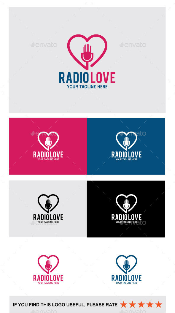 RADIO LOVE - Abstract Logo Templates