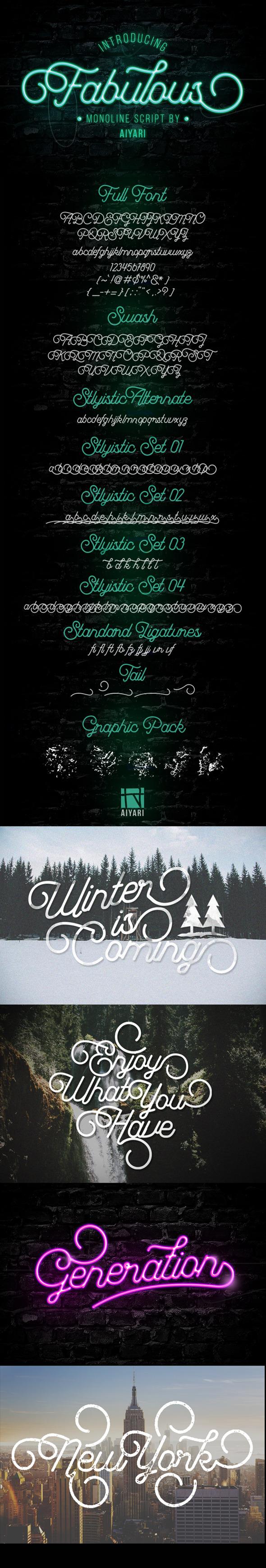 Fabulous Font - Script Fonts