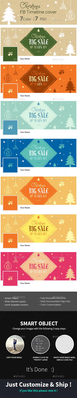 Christmas-HandDrawnStyle- FB Timeline Cover - Social Media Web Elements