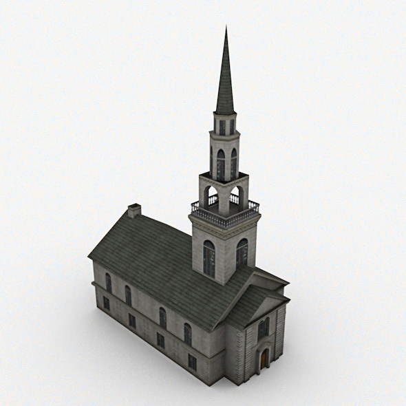 Church Low Poly - 3DOcean Item for Sale