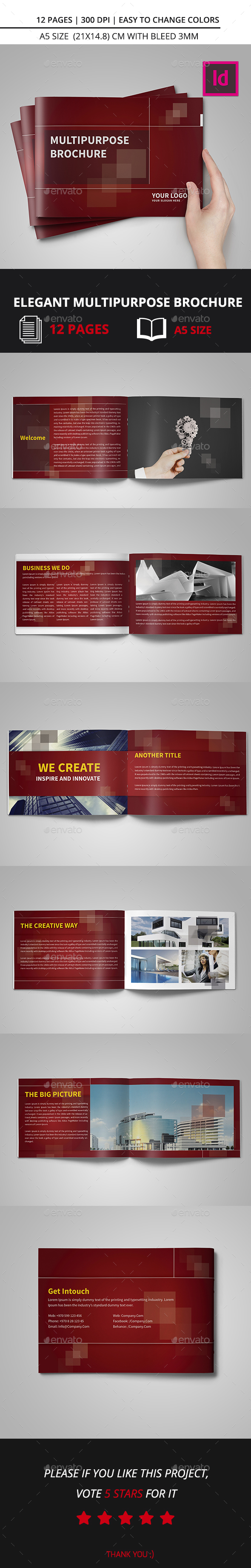 Elegant Multipurpose Brochure A5 - Corporate Brochures