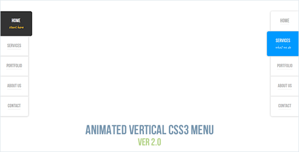 Animated Vertical CSS3 Menu - CodeCanyon Item for Sale