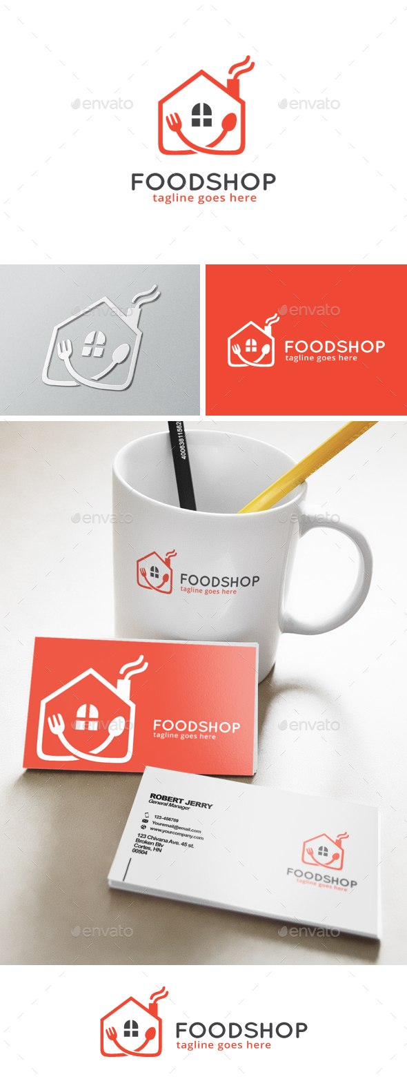 Food House Logo - Food Logo Templates